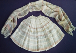 Replica stole and skirt, gift to Princess Margaret, 1957